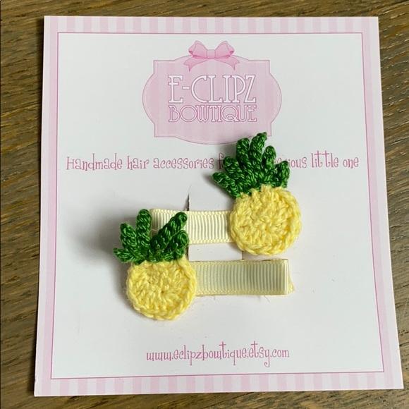 Other - New handmade pair of crochet pineapple hair clips